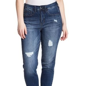 SEVEN7 RELEASED STEP-HEM SKINNY JEANS SIZE 24W NWT
